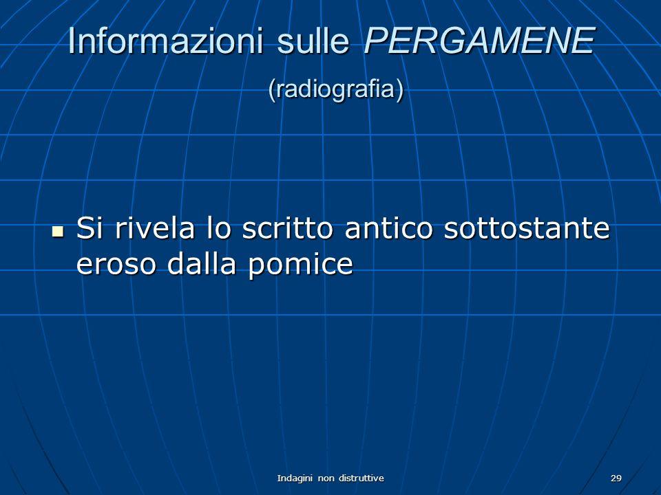 Informazioni sulle PERGAMENE (radiografia)