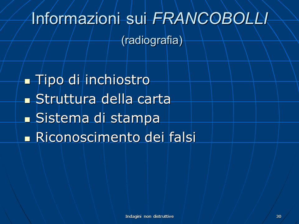 Informazioni sui FRANCOBOLLI (radiografia)