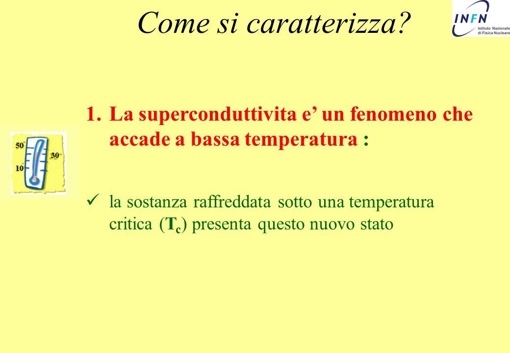 Come si caratterizza La superconduttivita e' un fenomeno che accade a bassa temperatura :