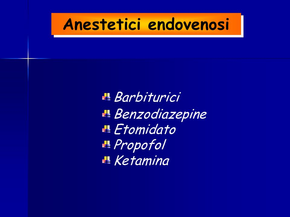 Anestetici endovenosi
