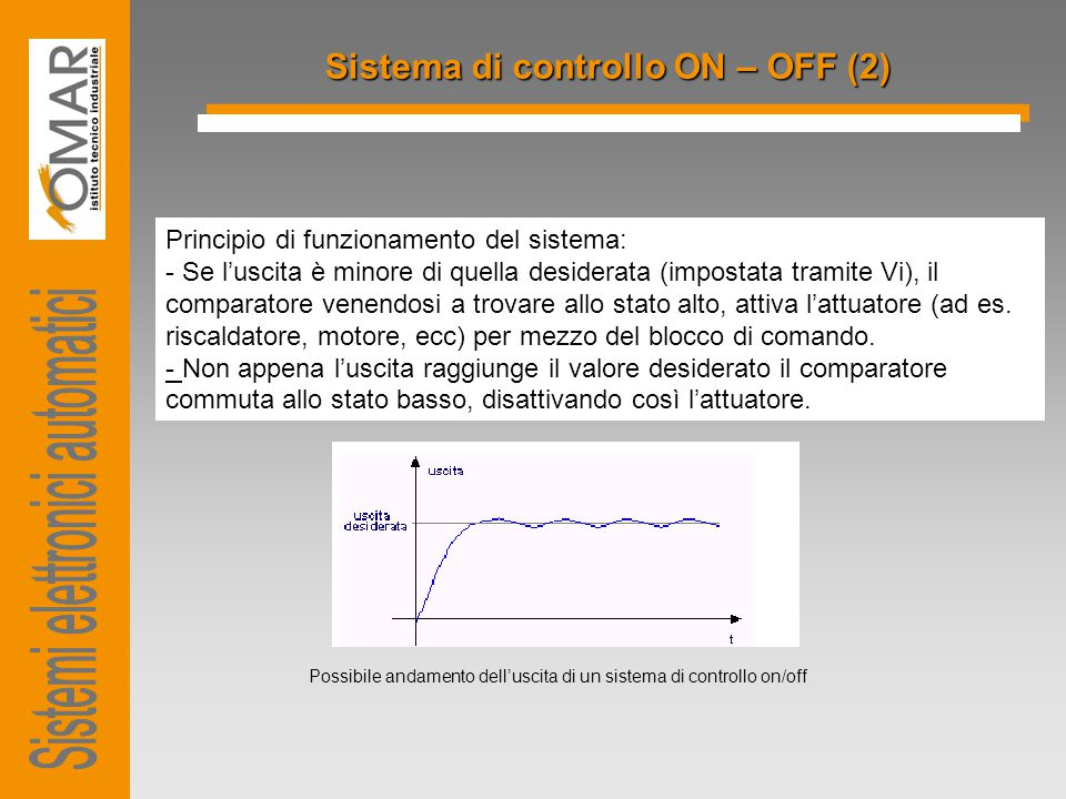 Sistema di controllo ON – OFF (2)