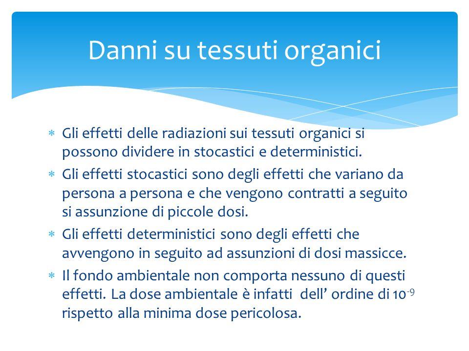 Danni su tessuti organici