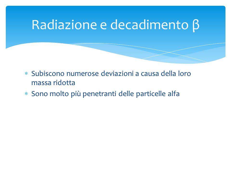 Radiazione e decadimento β