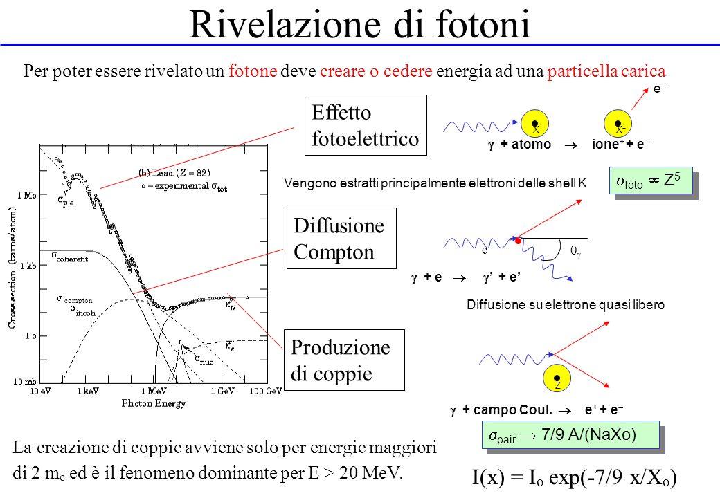 Rivelazione di fotoni Effetto fotoelettrico Diffusione Compton