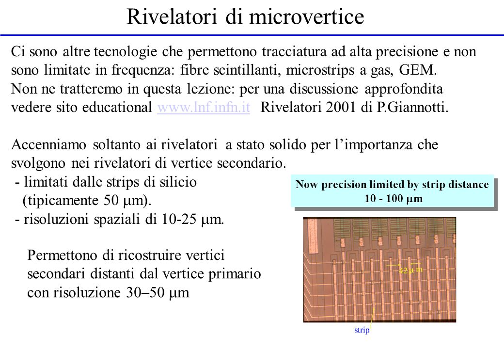Rivelatori di microvertice