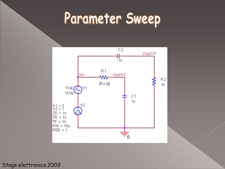 Parameter Sweep Stage elettronica 2009
