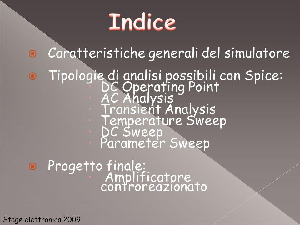 Caratteristiche generali del simulatore
