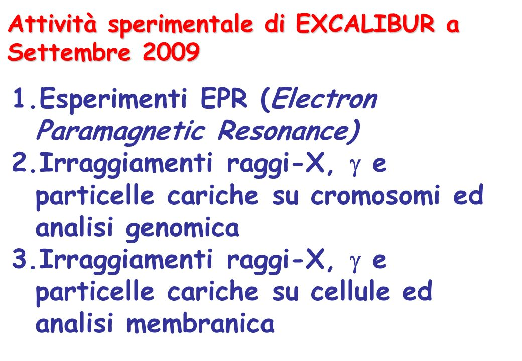 Esperimenti EPR (Electron Paramagnetic Resonance)