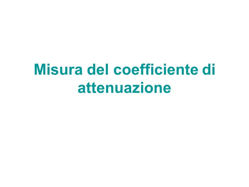 Misura del coefficiente di attenuazione