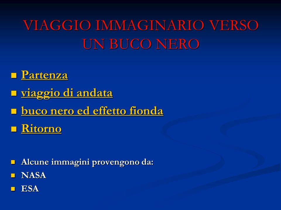 VIAGGIO IMMAGINARIO VERSO UN BUCO NERO