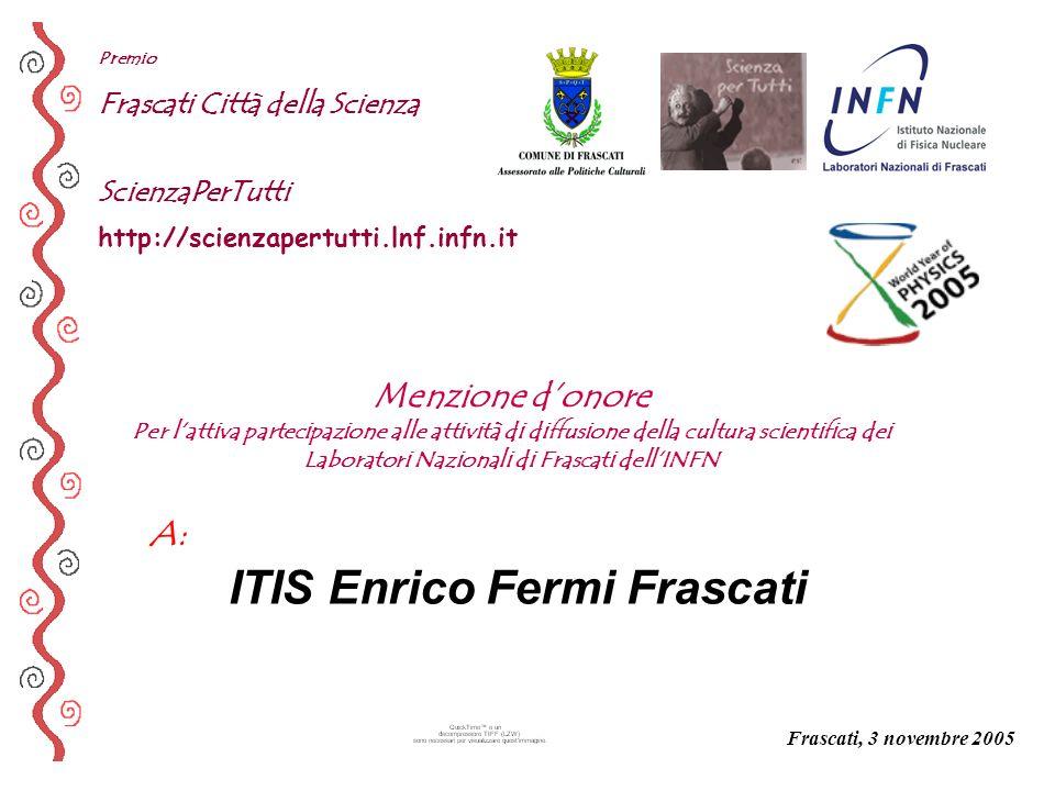ITIS Enrico Fermi Frascati