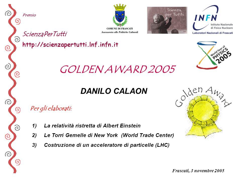 GOLDEN AWARD 2005 DANILO CALAON