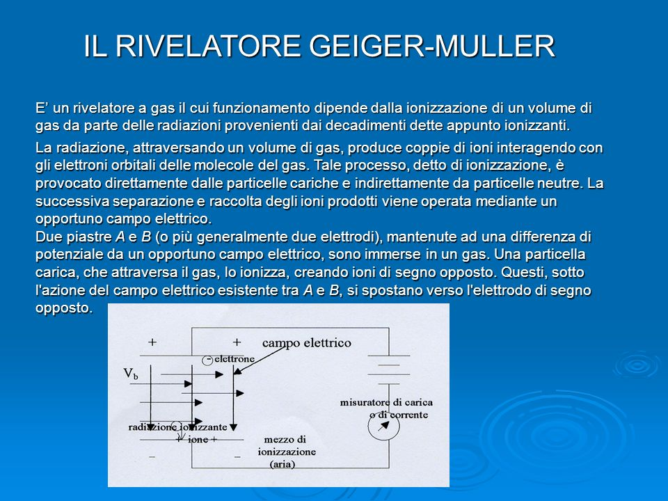 IL RIVELATORE GEIGER-MULLER