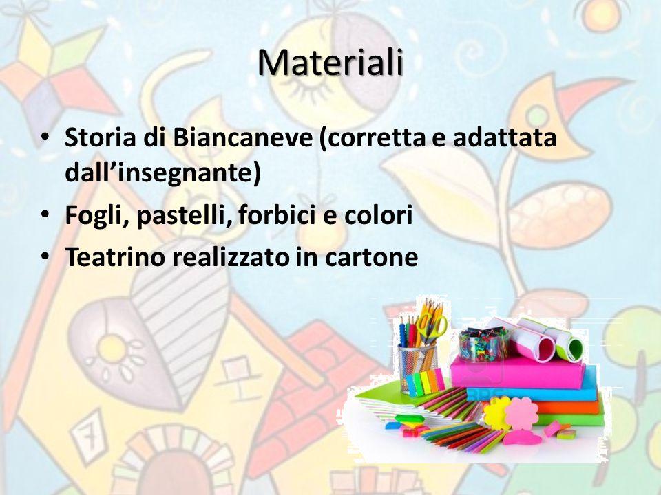 Materiali Storia di Biancaneve (corretta e adattata dall'insegnante)