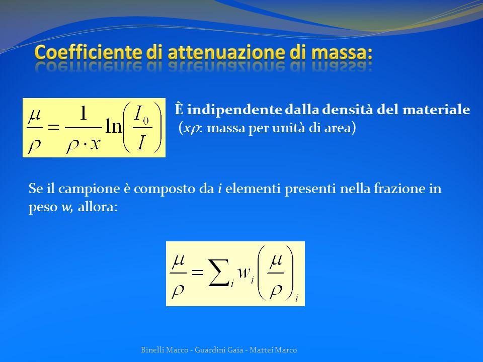 Coefficiente di attenuazione di massa: