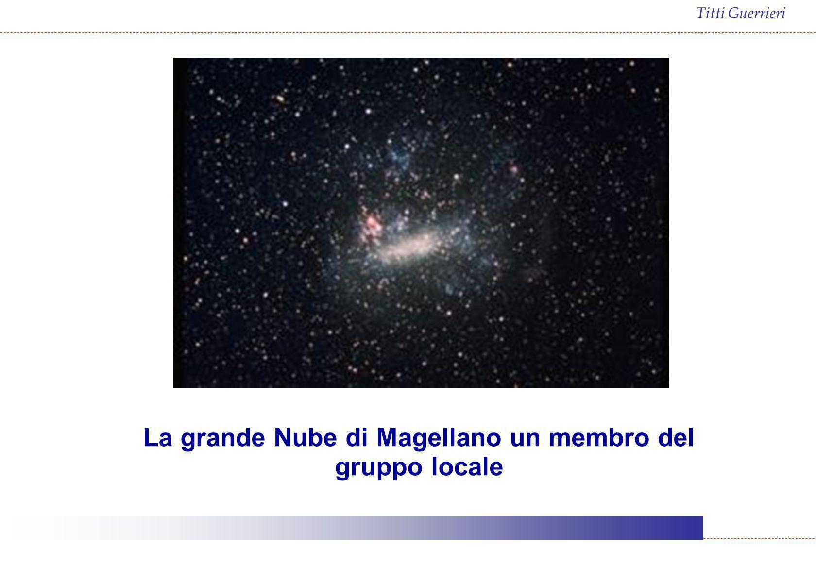 La grande Nube di Magellano un membro del gruppo locale
