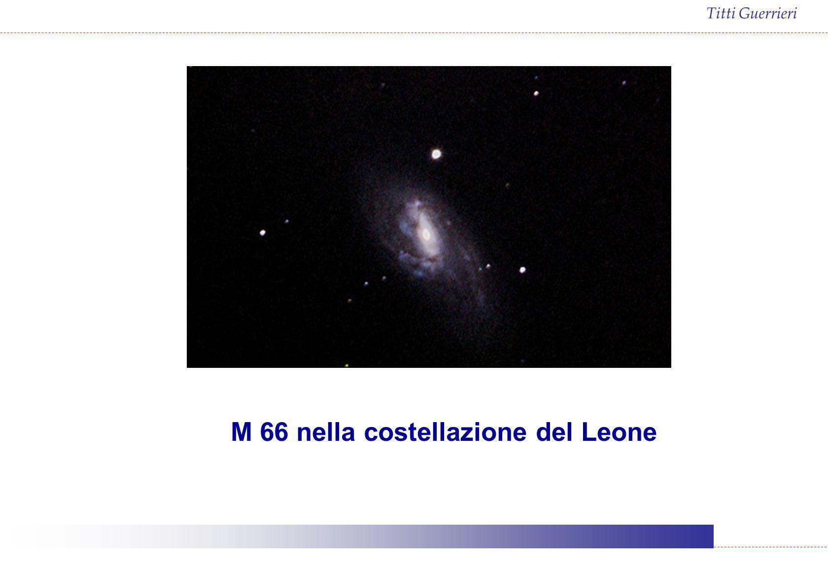 M 66 nella costellazione del Leone