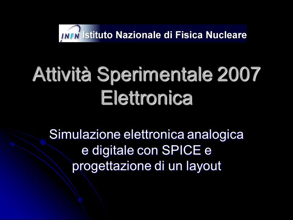 Attività Sperimentale 2007 Elettronica