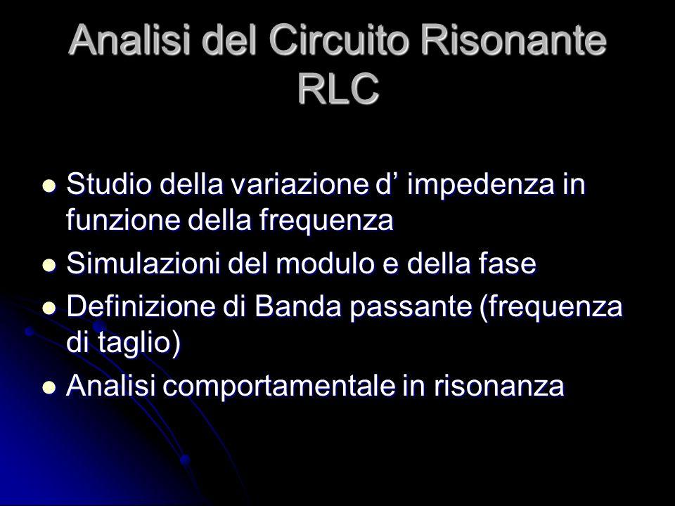 Analisi del Circuito Risonante RLC