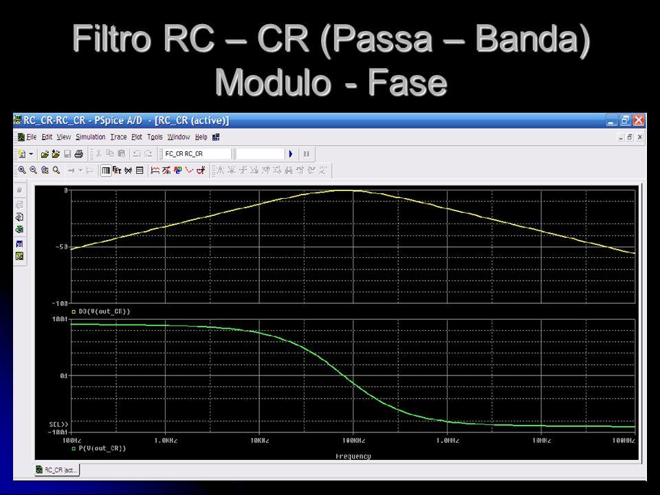 Filtro RC – CR (Passa – Banda) Modulo - Fase