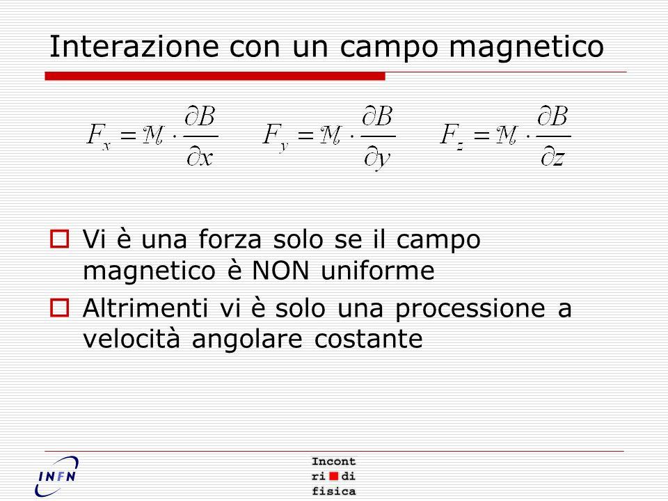 Interazione con un campo magnetico