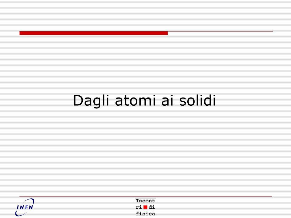 Dagli atomi ai solidi