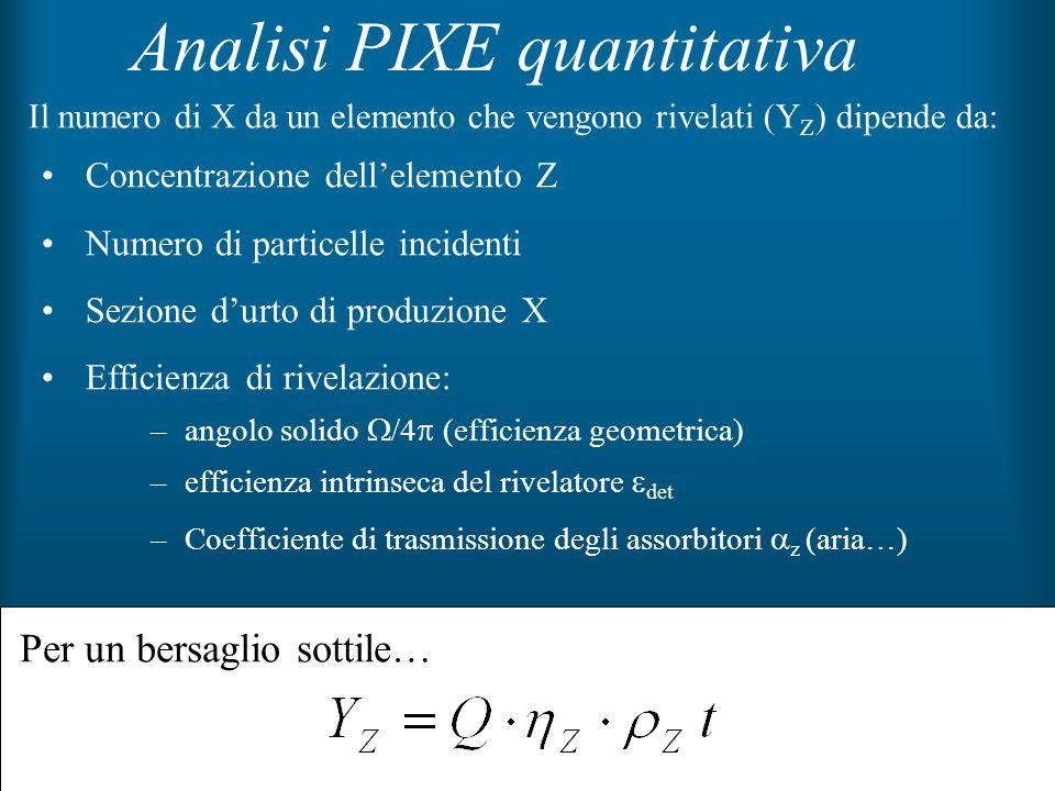 Analisi PIXE quantitativa