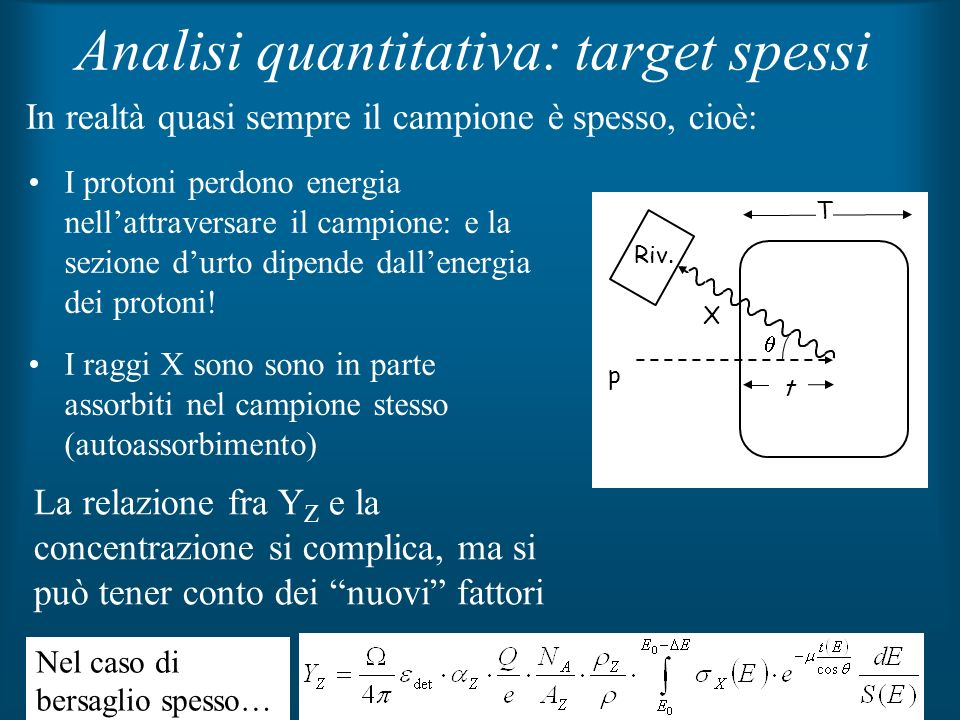 Analisi quantitativa: target spessi