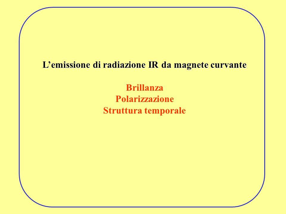 L'emissione di radiazione IR da magnete curvante