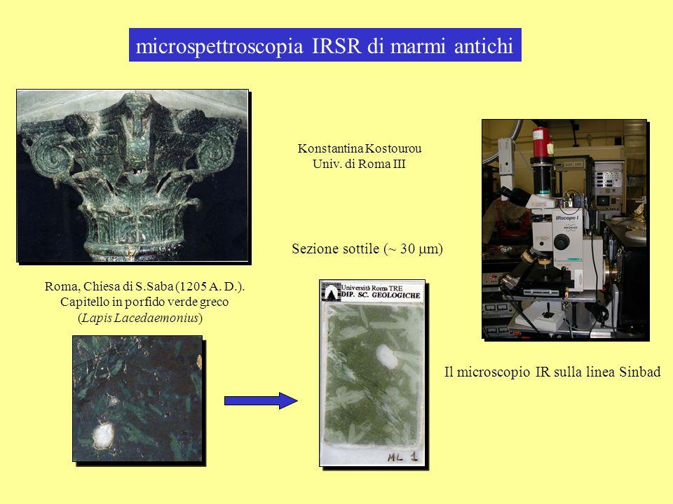 microspettroscopia IRSR di marmi antichi