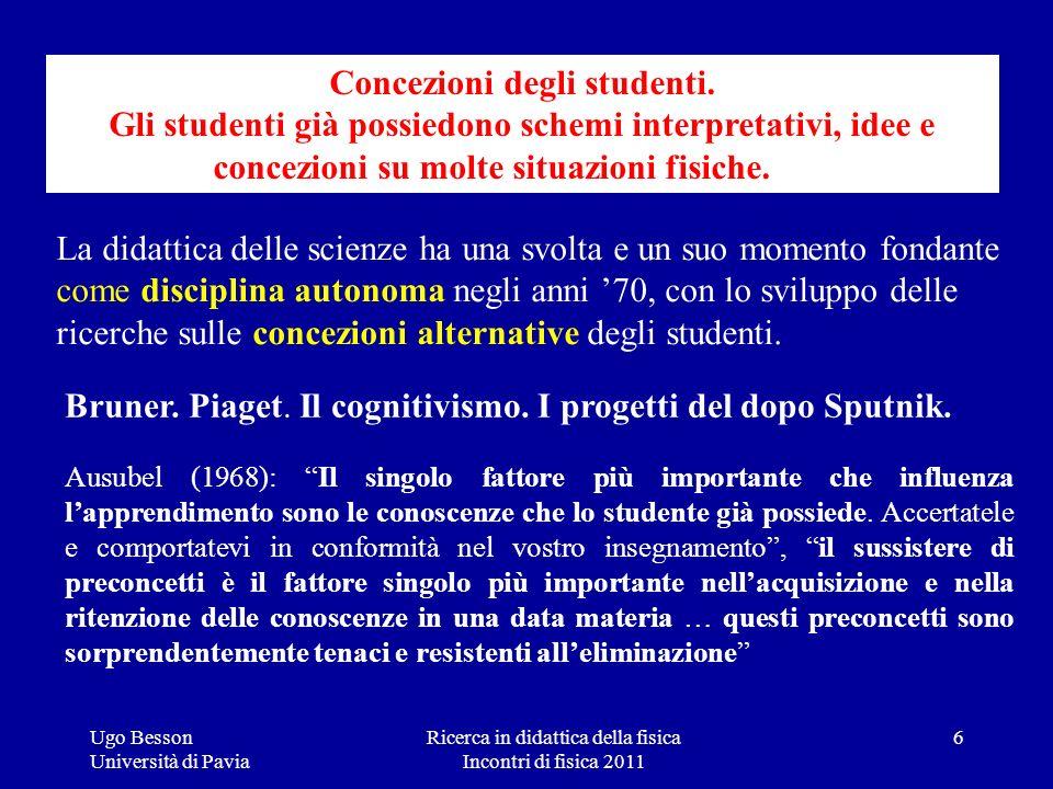 Concezioni degli studenti.