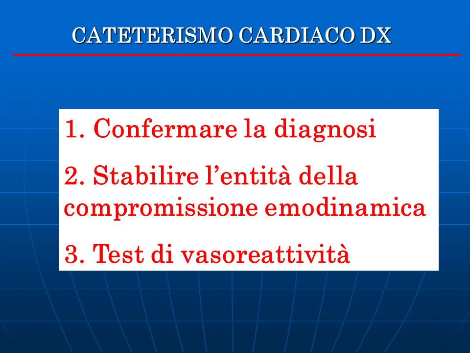 CATETERISMO CARDIACO DX