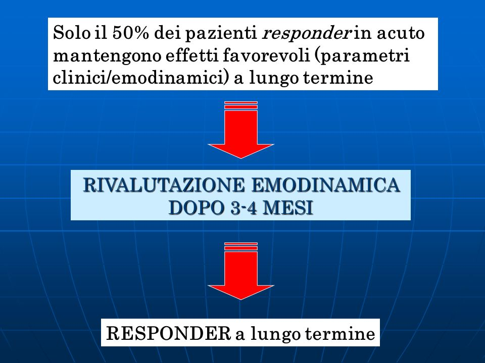 RIVALUTAZIONE EMODINAMICA DOPO 3-4 MESI