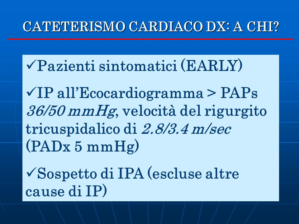 CATETERISMO CARDIACO DX: A CHI