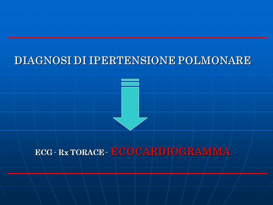 DIAGNOSI DI IPERTENSIONE POLMONARE