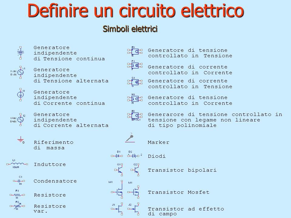 Definire un circuito elettrico