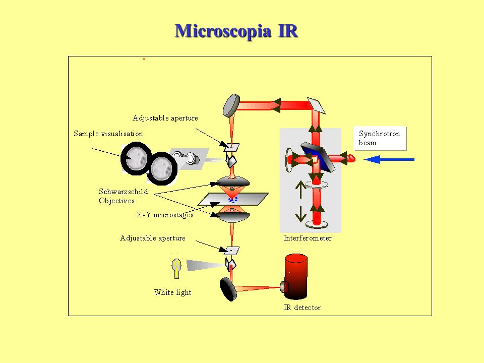 Microscopia IR Schematic diagram of an infrared microspectrometer system