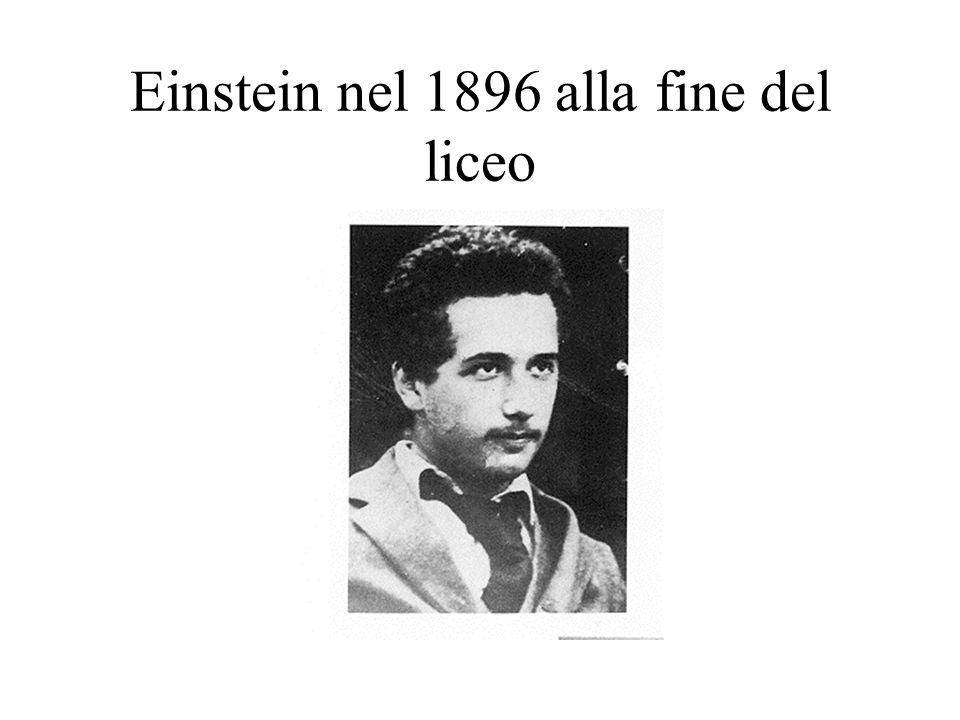 Einstein nel 1896 alla fine del liceo