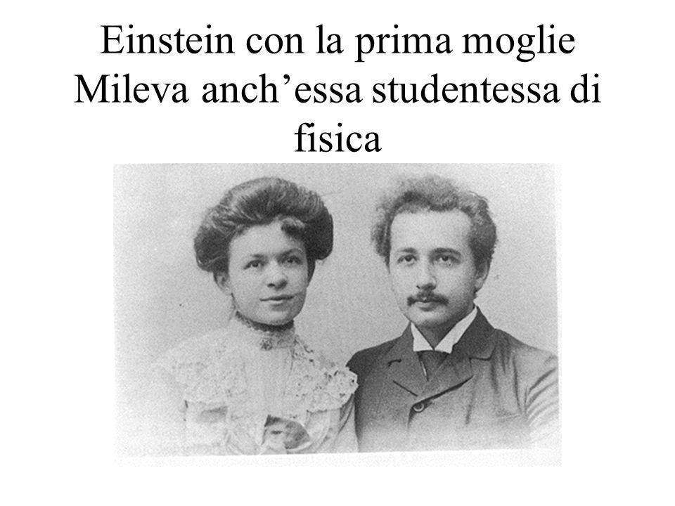 Einstein con la prima moglie Mileva anch'essa studentessa di fisica
