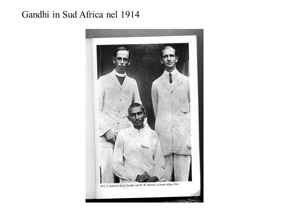 Gandhi in Sud Africa nel 1914