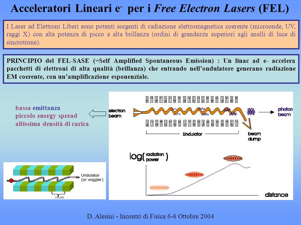 Acceleratori Lineari e- per i Free Electron Lasers (FEL)