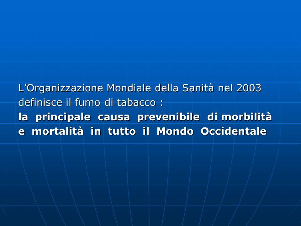 L'Organizzazione Mondiale della Sanità nel 2003