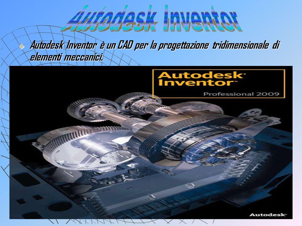 Autodesk InventorAutodesk Inventor è un CAD per la progettazione tridimensionale di elementi meccanici.