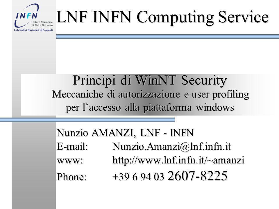 Principi di WinNT Security