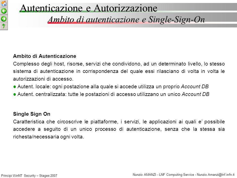 Autenticazione e Autorizzazione