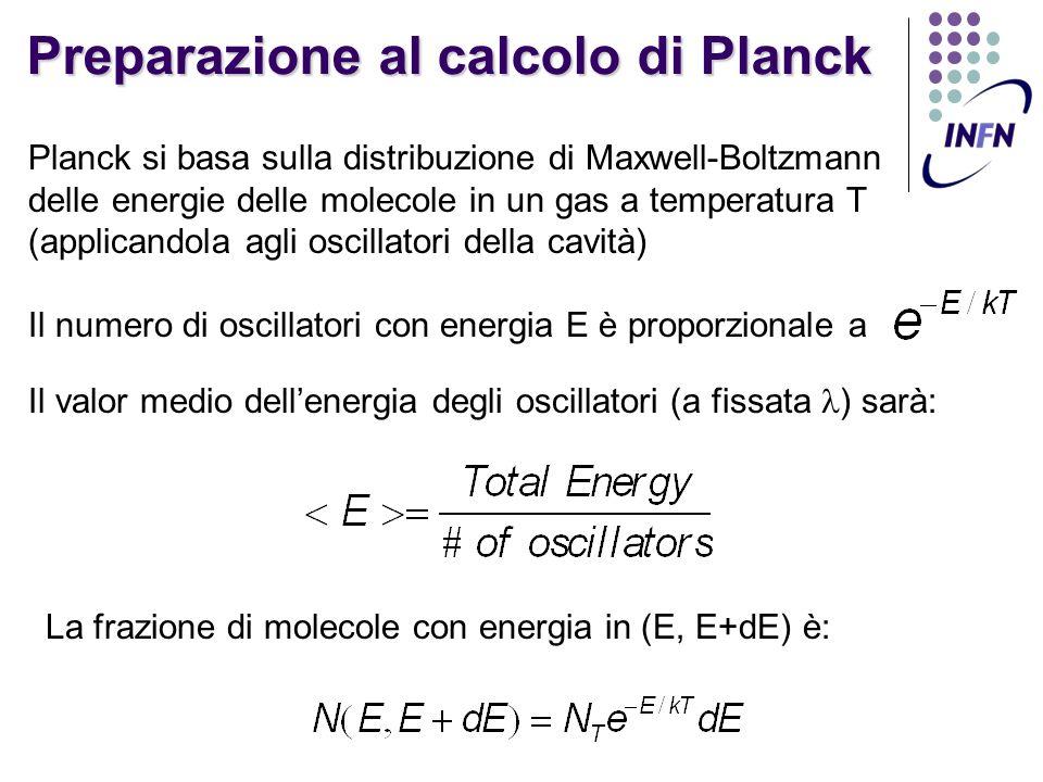 Preparazione al calcolo di Planck
