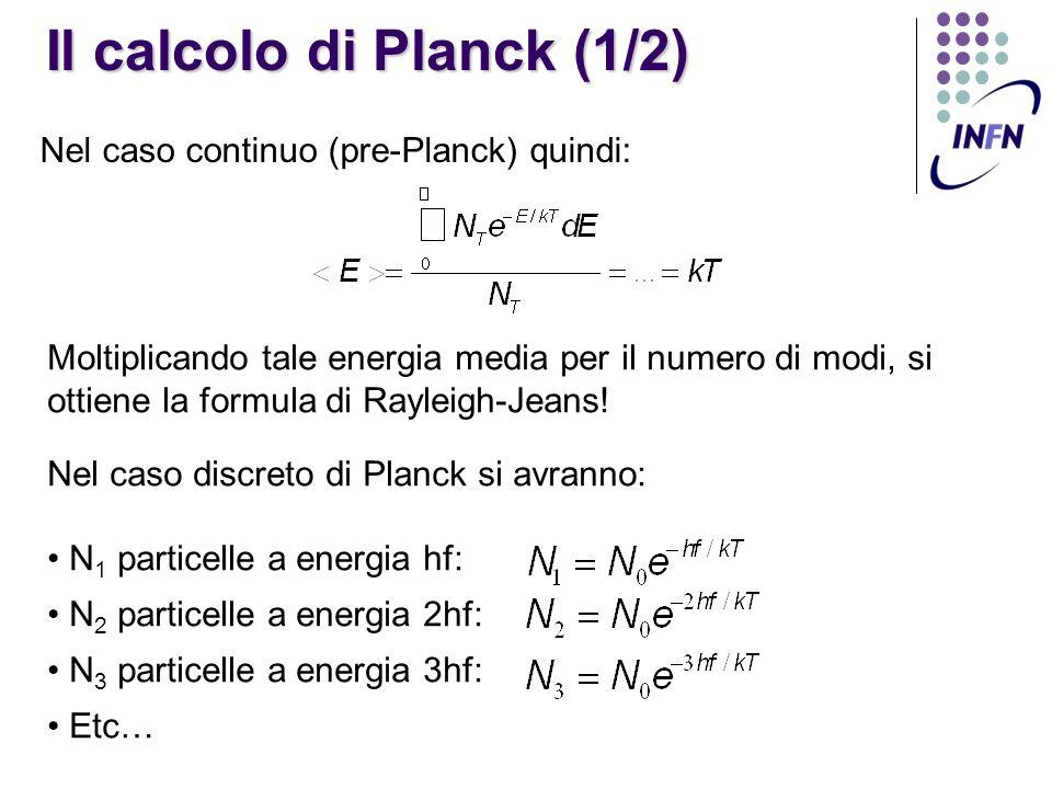 Il calcolo di Planck (1/2)