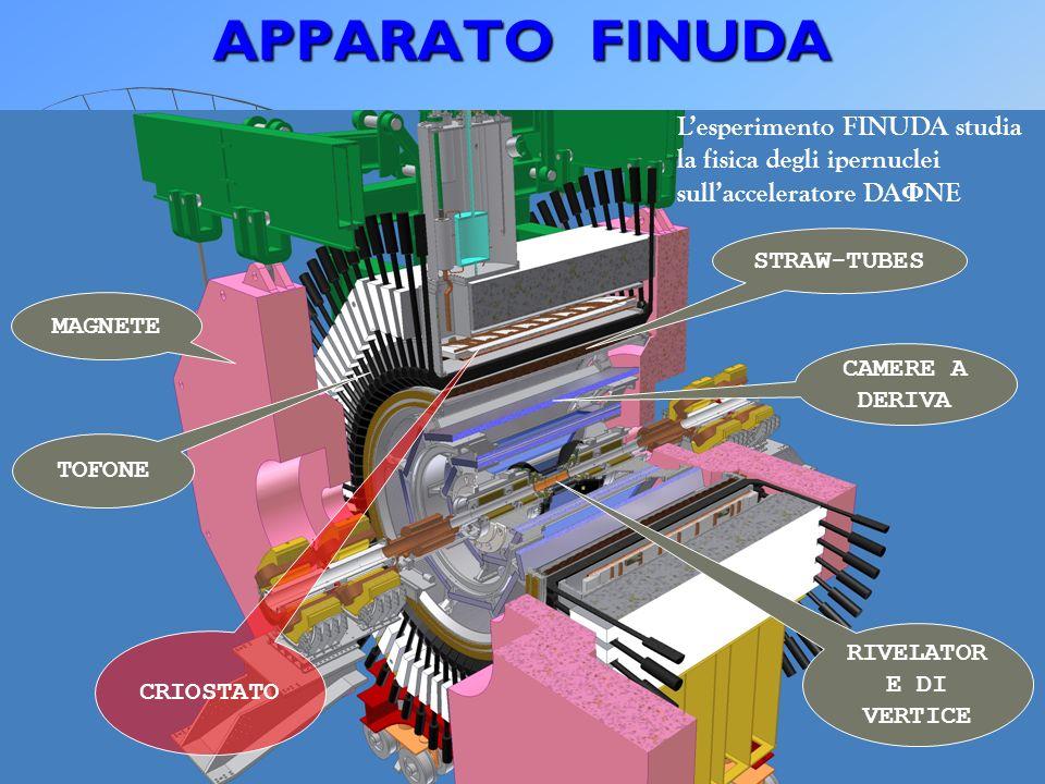 APPARATO FINUDA L'esperimento FINUDA studia la fisica degli ipernuclei sull'acceleratore DAΦNE.