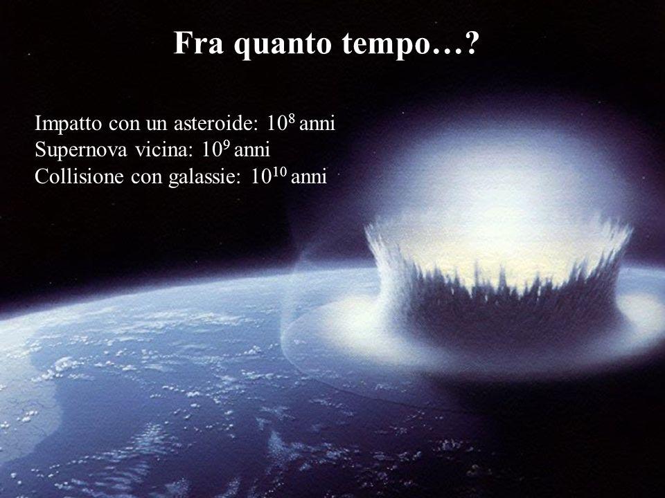 catastrofi Fra quanto tempo… Impatto con un asteroide: 108 anni