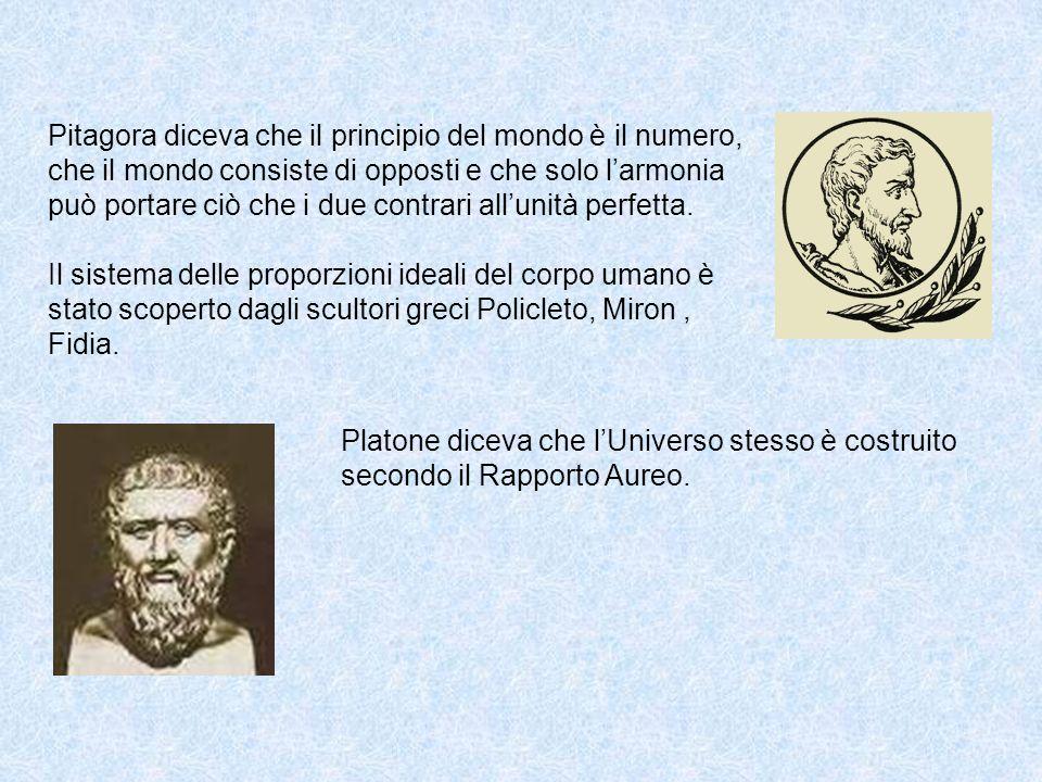 Pitagora diceva che il principio del mondo è il numero, che il mondo consiste di opposti e che solo l'armonia può portare ciò che i due contrari all'unità perfetta.
